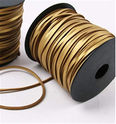 n Wicklung Lederseil Zubehör Zubehör Bouquet Armband Weben Gold 3Mm X 46M ()