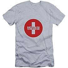 Unisex Eminem Camiseta de Manga Corta con Estampado Simple Camiseta con  Cuello Redondo de Algodón Puro 6f4c66531de