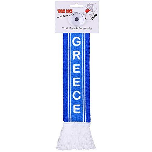TRUCK DUCK® LKW Auto Minischal Greece Griechenland Trucker Mini Schal Wimpel Flagge Fahne Saugnapf Spiegel Deko