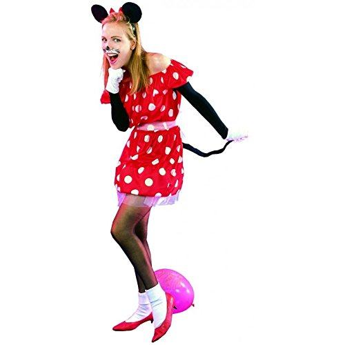 Unbekannt P'tit Clown 89380Erwachsenen-Kostüm Maus für Damen – Einheitsgröße – Schwarz/Rot
