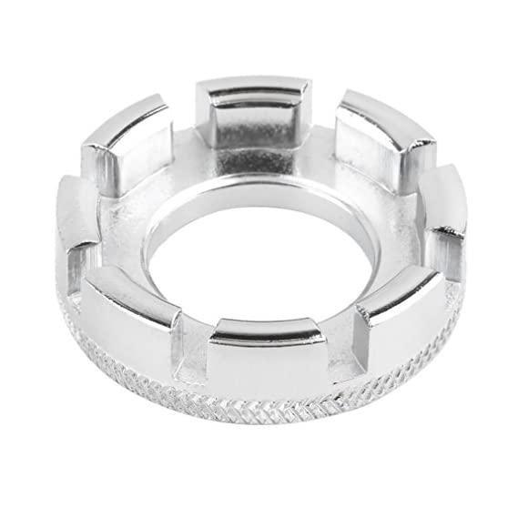 Electomania 1pcs Bicycle Bike 8 Way Spoke Nipple Key Wheel Rim Wrench Spanner Mini Tool (silver)