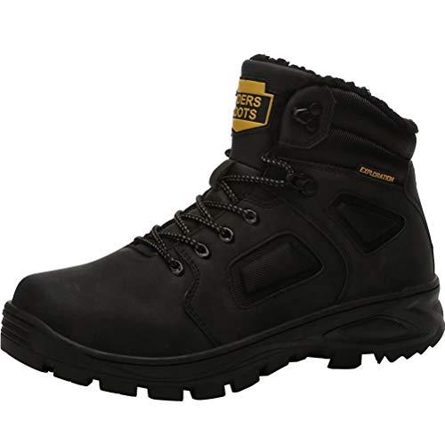 Hombre Botas de Nieve Impermeable Botas de Invierno Forro Piel Zapatillas Trekking Senderismo Sneakers...