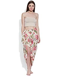 Very Me Women's Cotton Printed Voile Sarong Size:- Standard / Na (Pink)