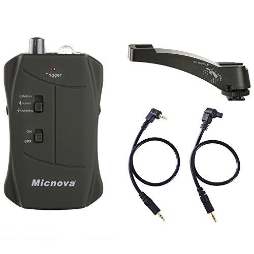 Micnova MQ-VTC dispositivo di innesco otturatore con modalità suono, movimento e illuminazione, Canon EOS 1D, X, 1DS, 5D, 5DS, 5D Mark IV, 6D, 7D, 50D fotocamere DSLR