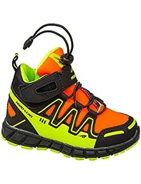 GIBRA® Kinder Sportschuhe, mit Klettverschluss, schwarz/orange/neongelb, Gr. 25-36