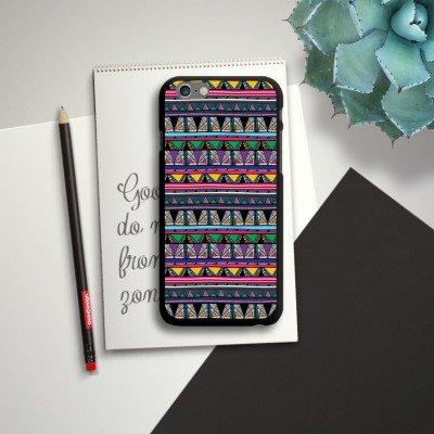 Apple iPhone 6 Housse Étui Silicone Coque Protection Style ethnique Style ethnique Années 80 CasDur noir