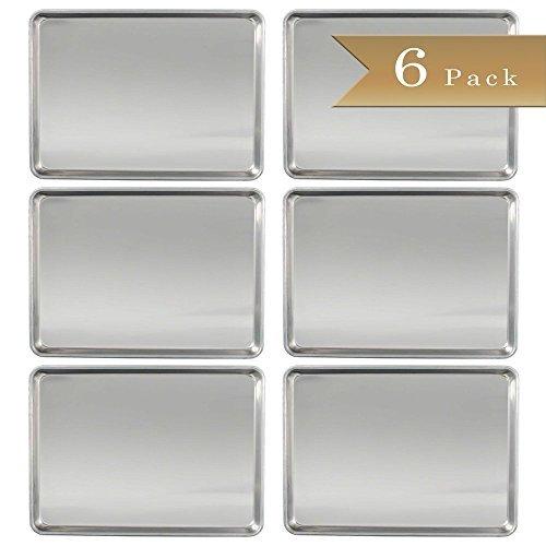 Set von 6-truecraftware 18Gauge Aluminium kaufmännischer Baker 's Halbformat Tabelle/Backblech/Pfanne/33x 45,7cm (Aluminium-bun-rack)