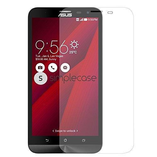 Simplecase Premium Bildschirmschutz Größe: Asus Zenfone 2 Ultra aus 9H Panzerglas/ Echtglas/ Verb&glas - Transparent