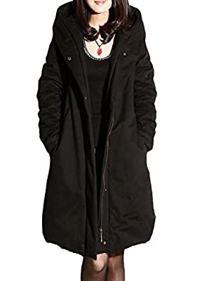 MatchLife Damen Zipper Jacket Hoodie Winter Warm Mantel
