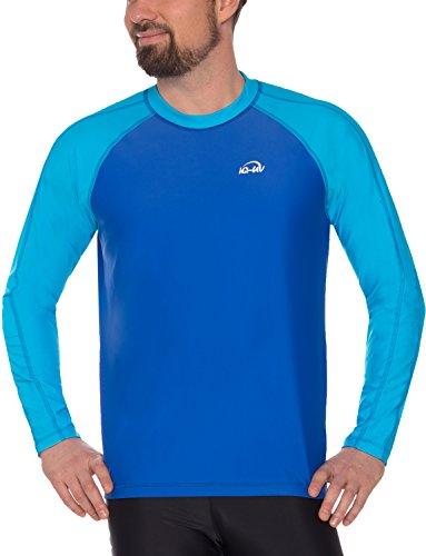 iQ-UV Herren UV 300 Shirt Loose Fit LS T, Hawaii-Blue, XL (54)