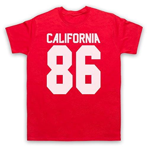 Inspiriert durch California 86 As Worn By Damon Albarn Unofficial Herren T-Shirt Rot