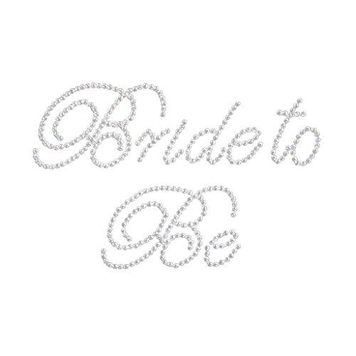 RETYLY Weiss Bride to Be Strass Aufkleber fuer Bridal Hochzeit DIY Bachelorette Partei