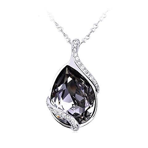 Mode Für Frauen Kristalltropfen Halskette Langen Abschnitt,A2-OneSize