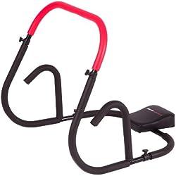 Ultrasport Aparato de abdominales AB Roller / AB Trainer con esterilla para las rodillas, ejercicios de abdominales para hombres y mujeres, rueda de abdominales multifunción, también para personas mayores, aparato de musculación plegable en poco espacio
