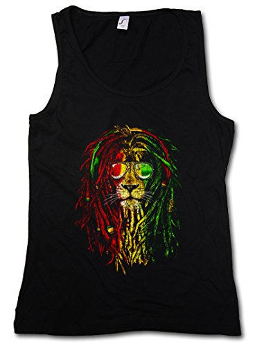 Rastafari Lion I Damen Frauen Tank Top Shirt - Größen S - XL