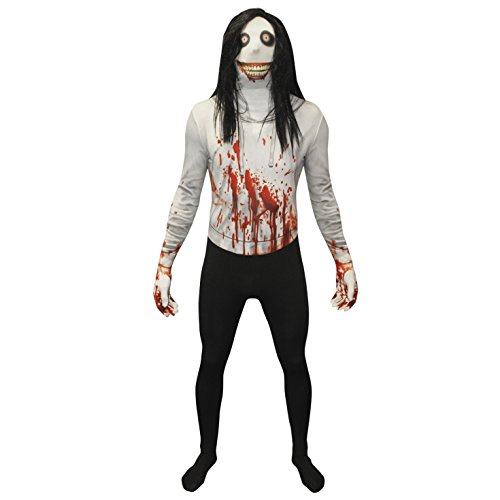 MorphCostumes MPJK2 - Jeff the Killer Morphsuit Verrücktes Kleid Kostüm, XXL, 186 - 210 (Morphsuits Slenderman)
