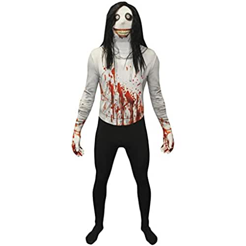 Disfraz de leyendas urbanas, Jeff the Killer (Jeff el asesino) de Morphsuit, tamaño XL: 176cm - 185cm