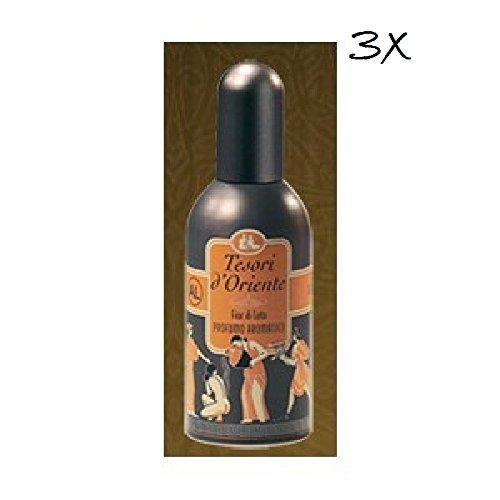 3x Tesori D 'oriente Fiori di Loto Perfume 100ml EDT Lotus Flores Eau de Toilette (precio: 11,99€)