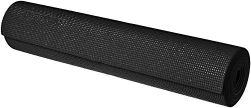 AmazonBasics Yoga and Exercise Mat with Carrying Strap, 1/4″
