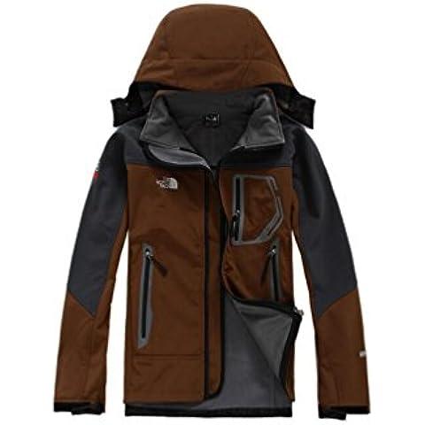 YYH Al aire libre polar Soft Shell con capucha chaqueta de , l