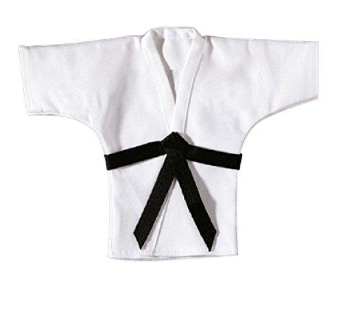 BAY® Mini Karate Anzug 21 cm Jacke Deko Anhänger Schlüsselanhänger weiß Karatejacke Karateanzug klein Geschenk Idee Judo Taekwondo Ju Jutsu Tae Kwon Do BUDO Kampfsport