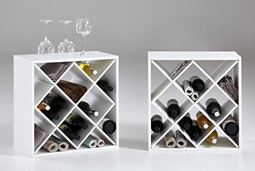 lifestyle4living Regal, Weinregal, Kubus, Allzweckregal, Weinregal, Weinschrank, Weinflaschenhalter,...