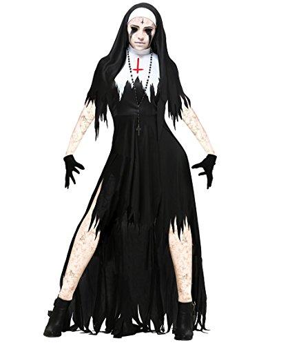 l zombie tod erwachsenen nonnen dämon zombie vampir kostüm (XL) (Wie Hoch Nonne Kostüme)
