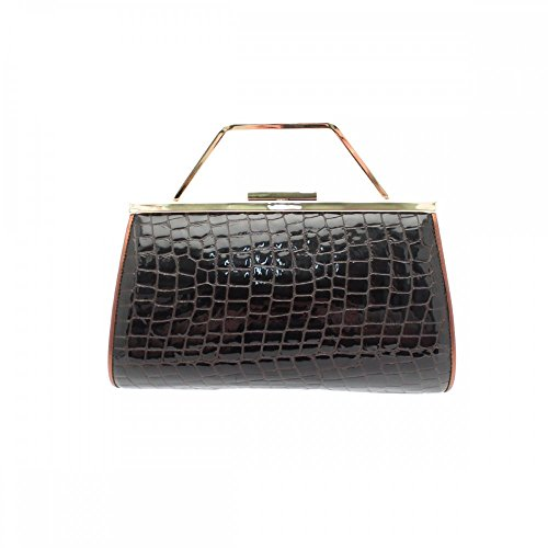 Renata Brown Croc Clutch 3-in-1 N/A Brown Multi (Handtasche Croc Clutch)