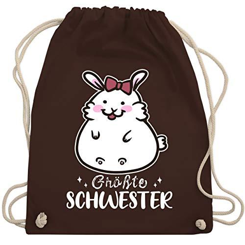 Geschwisterliebe Kind - Größte Schwester Hase - Unisize - Braun - WM110 - Turnbeutel & Gym Bag