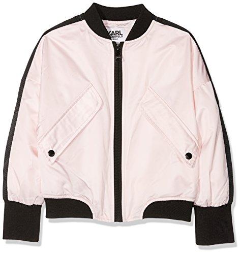 Karl Lagerfeld Kid Mädchen Jacke Blouson, Pink (Baby Pink 44L), 5 Jahre (Hersteller Größe: 05A)