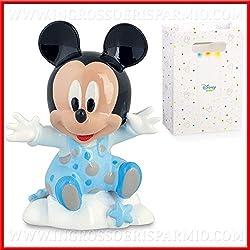 Ingrosso e Risparmio Venta AL por Mayor y Ahorro de reducción firmada Disney con diseño Mickey Mouse Celeste de Pelo, bomboneras Bautizo, DE Tarta De Boda Cumpleaños Niño, Incluye Caja de Regalo