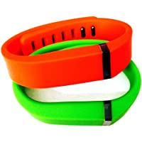 Preisvergleich für Small S 1pc Green 1pc Red (Tangerine) Replacement Bands + 1pc Free Small Grey Band With Clasp for Fitbit FLEX Only /No tracker/ Wireless Activity Bracelet Sport Wristband Fit Bit Flex Bracelet Sport Arm Band Armband