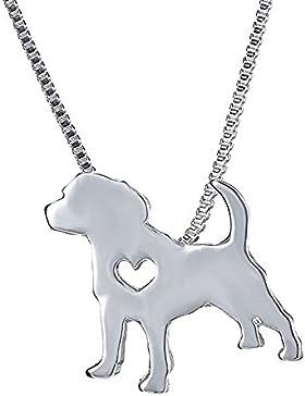 Dog Kette Anhänger Beagle Greyhound German Shepherd Dog Memorial Geschenk Halskette für Herren Damen