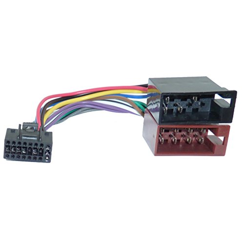 Adapter-Universe® DIN ISO Auto Radio Adapter Kabel Stecker 16 Pin Kabelbaum f JVC KD-ADV KD-AV