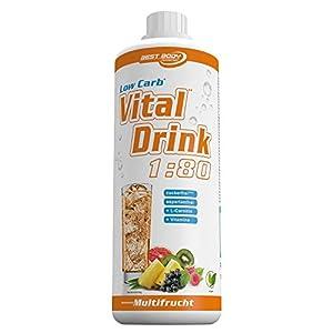 Best Body Nutrition Vital Drink, Multifrucht, 1000ml Flasche