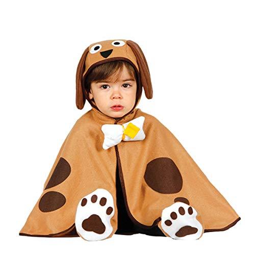 Kostüm Baby Welpen - Baby Hund - Kostüm für Kinder Tier Karneval Fasching braun Welpe süß Gr. 86/92, Größe:86/92