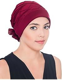 Elegante Kopfbedeckung Mit Diamant-Muster Mit Rose fur haarverlust, Krebs, Chemotherapie