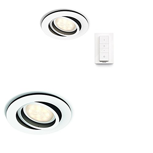 Ambiance Circular5 Regulable Inteligente Hue WMando Led Milliskin IncluidoIntensidad Y Philips 4x 5 Inalámbrico White Foco Tono Empotrable vyNm80wnO