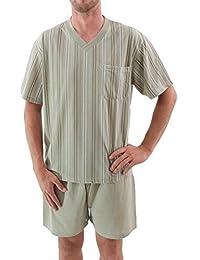 Costume de sommeil pour hommes court Shorty Pyjama Coton