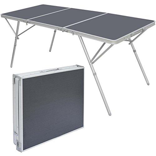 AMANKA Stabiler XXL Aluminium Campingtisch Klapptisch 180x70x70cm Alu-Falttisch Garten-Tisch Leicht Klappbar Anthrazit
