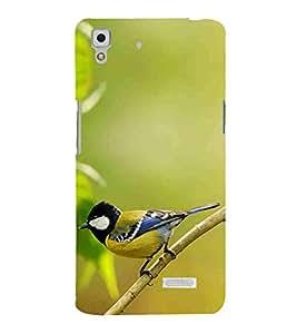 Bird, Green, Beautiful pattern, Lovely Pattern, Printed Designer Back Case Cover for Oppo R7 :: Oppo R7 Lite