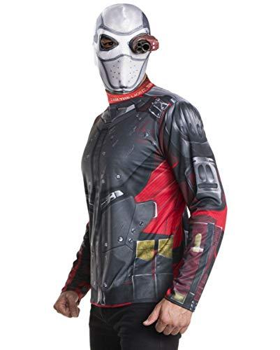 Horror-Shop Deadshot Kostüm Set mit Maske für Fasching & Halloween Standard