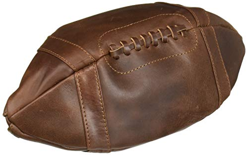 Thumbs Up ThumbsUp Kulturtasche American Football Echtleder, Braun, one Size
