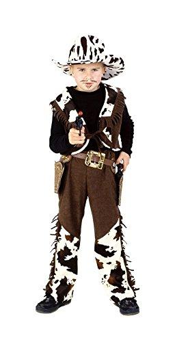 Cowboy Kostüm braun-beige für Jungen | Größe 116 | 2-teiliges Western Kostüm | Wilder Westen Faschingskostüm für Kinder | Rancher Kostüm für Karneval