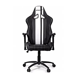 AK Racing RUSH – Silla para Gaming, color negro y blanco