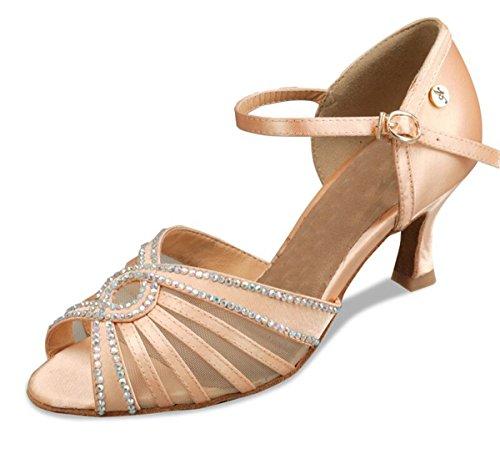 Minitoo - Ballroom donna Brown-7.5cm Heel