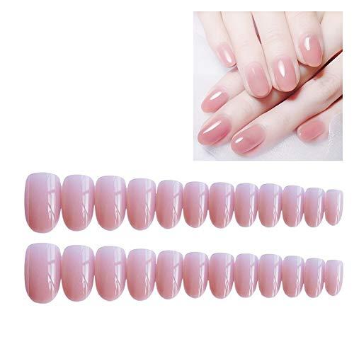 Homeofying 24pcs false nail art tip decoration full cover impermeabile adesivi per unghie