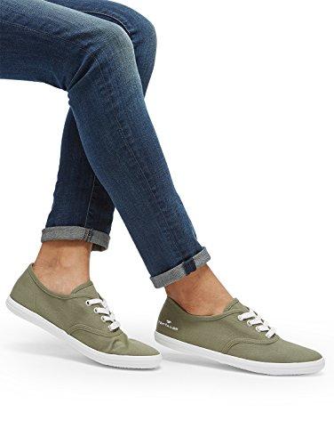 TOM TAILOR Frauen Schuhe Schlichter Sneaker Khaki, 36