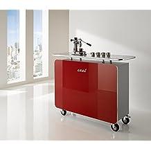 MS schuon–Klenk Collection: Cool Recepción mostrador con 4ruedas. Color: Rojo
