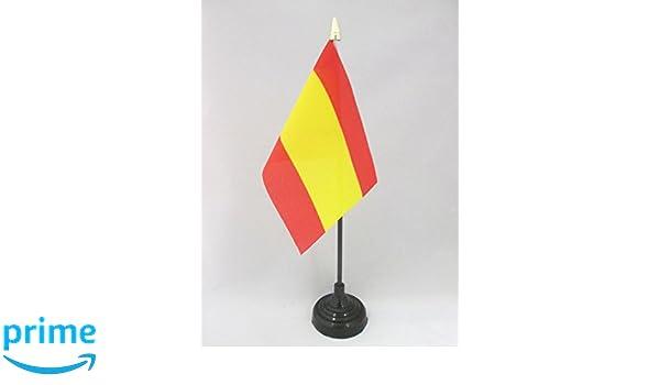 AZ FLAG Bandiera da Tavolo Spagna Senza Stemma 15x10cm Punta Dorata Piccola BANDIERINA Spagnola 10 x 15 cm